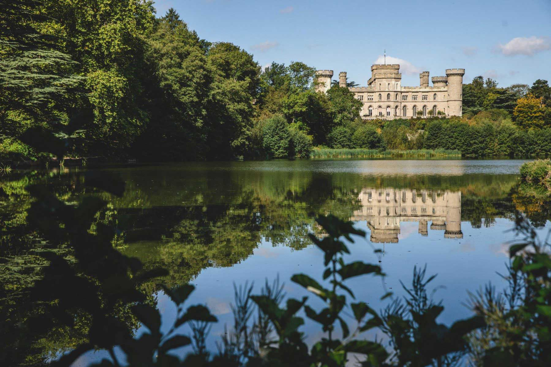 Eastnor Castle from across the Lake