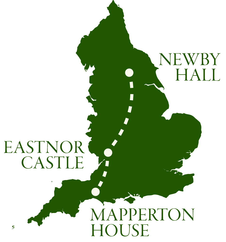 Map of England and the Grand Historic Tours Houses
