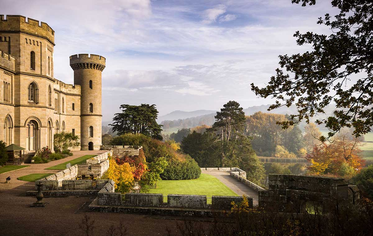 Eastnor Castle in the Fall