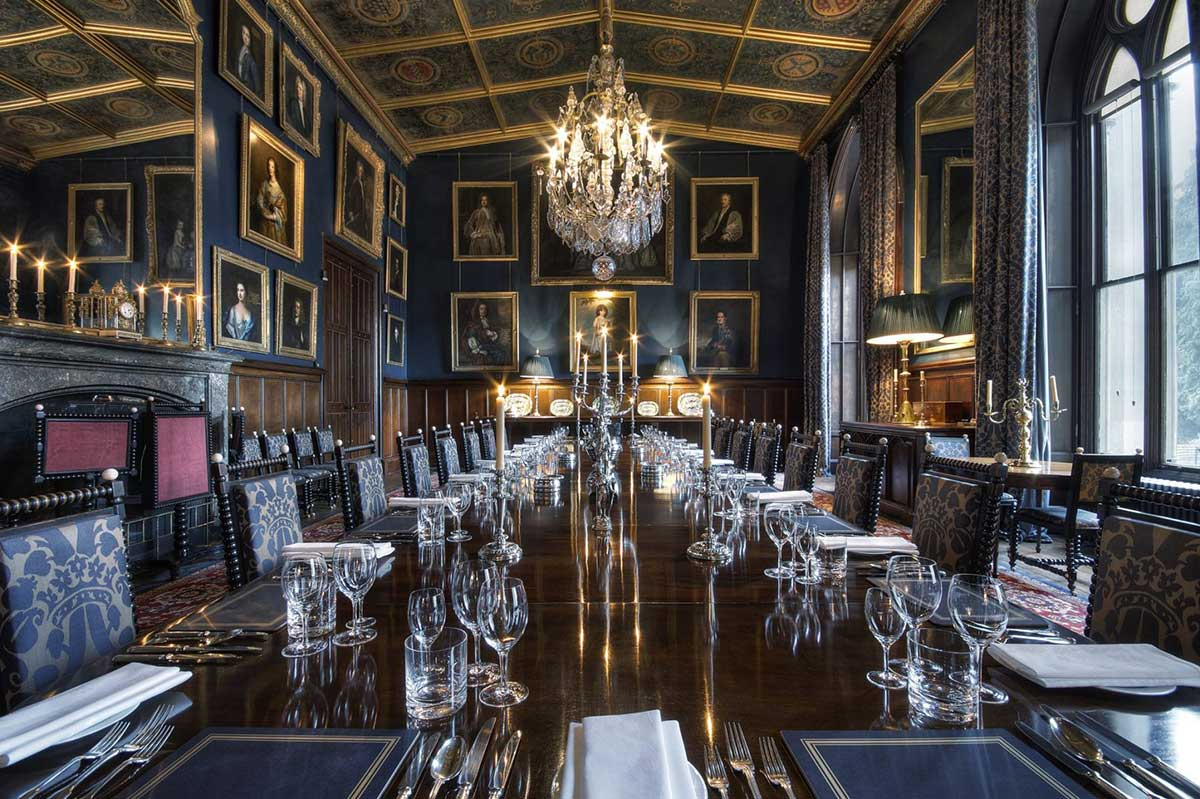 The State Dining Room at Eastnor Castle