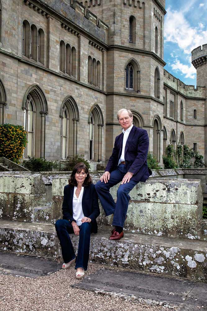 James and Lucy Hervey-Bathurst at Eastnor Castle