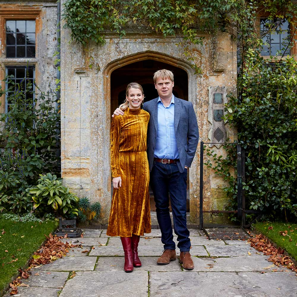 Julie and Luke Montagu - hosts at Mapperton House
