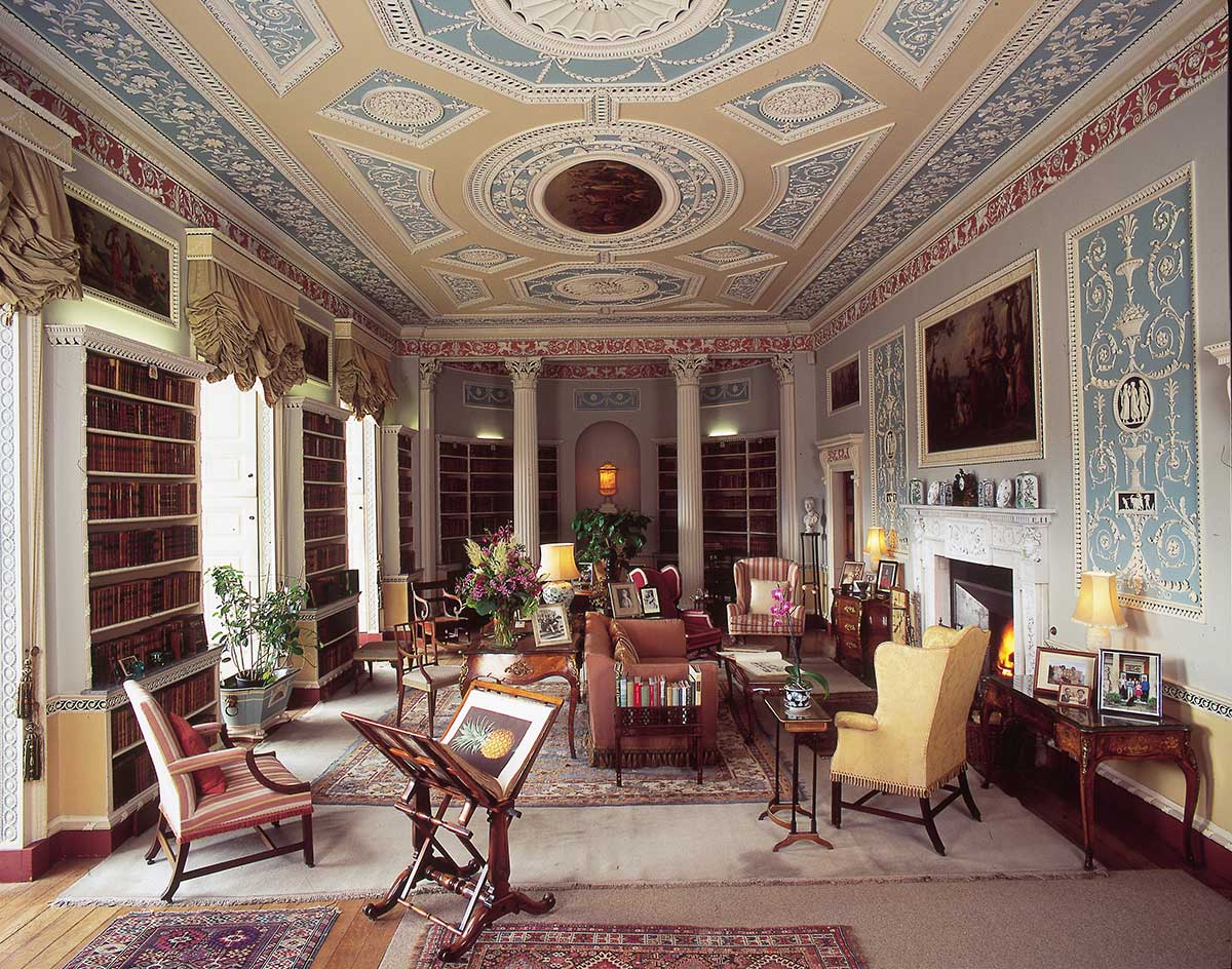 The Library at Newby Hall
