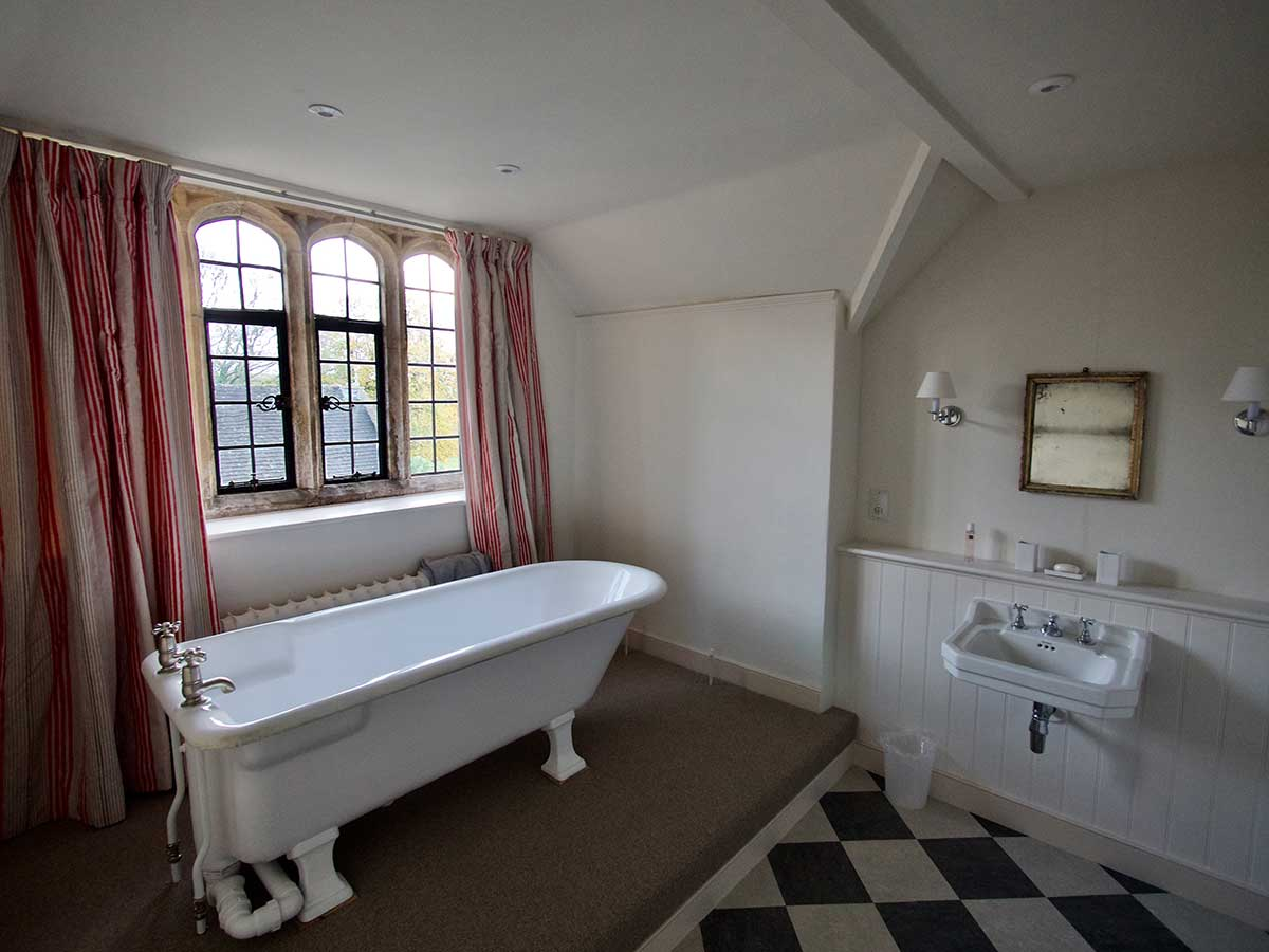 Bathroom at Mapperton House