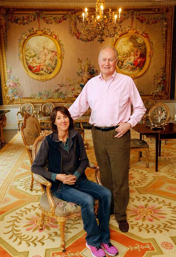 Richard and Lucinda Compton - your hosts at Newby Hall